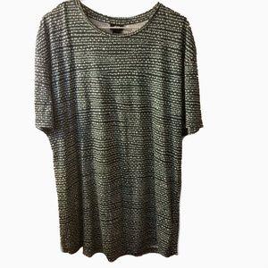 H & M l long cotton blend tunic shirt L